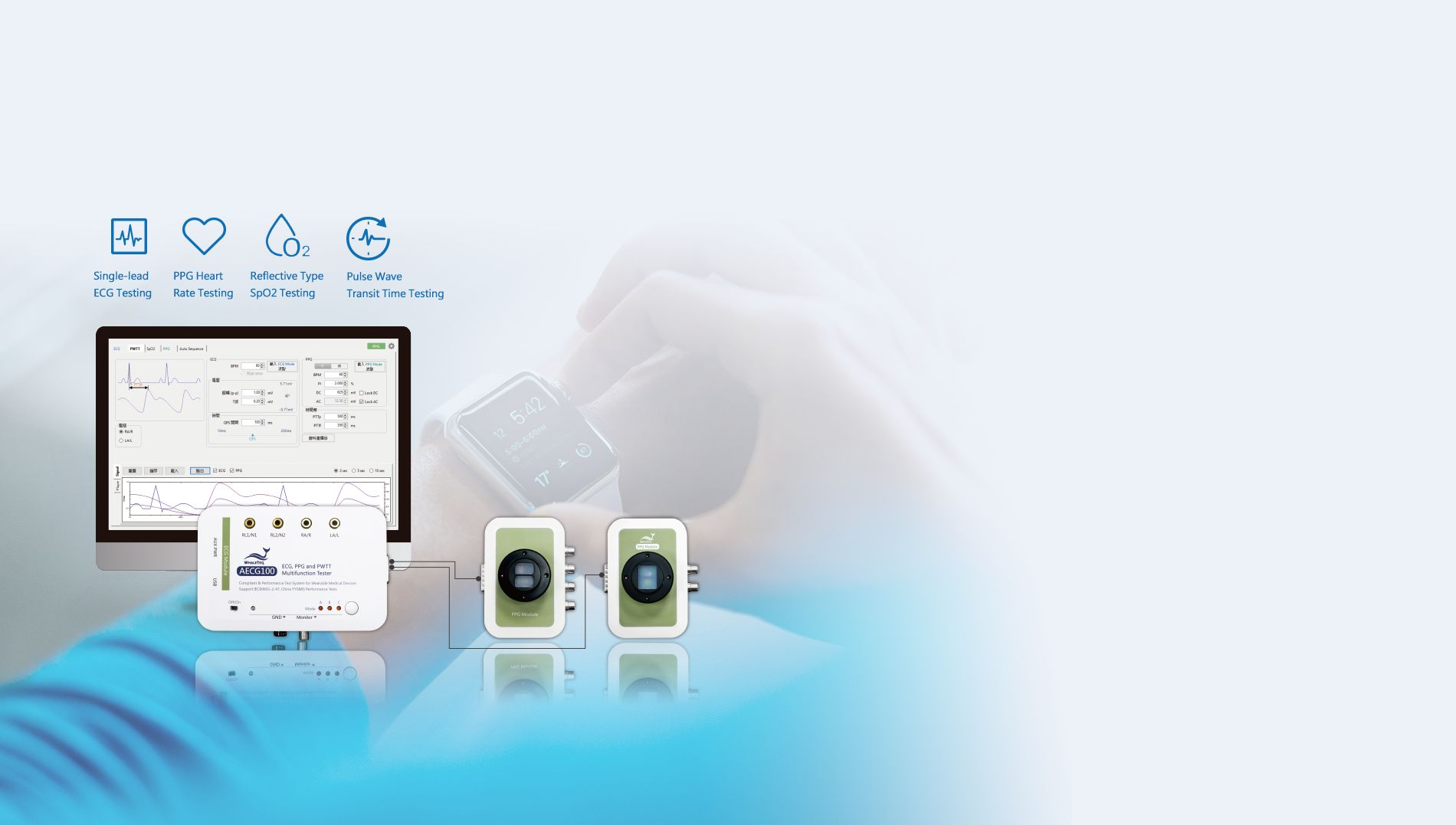 Test Solution for Medical Device and Healthcare Wearable - WHALETEQ